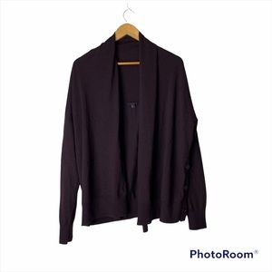 COS 100% Wool Open Front Button Side Cardigan
